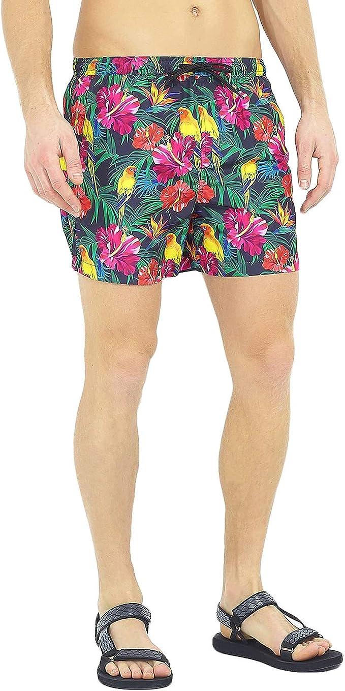 Multi BRAVE SOUL Mens Mexico Floral Swimming Swim Shorts