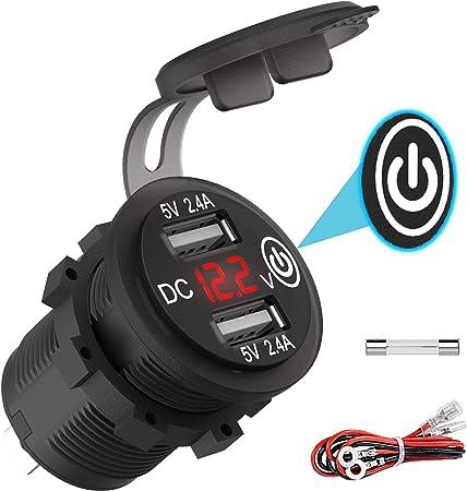 USB Buchse Auto Steckdose Zigarettenanzuender Ladegerät Adapter 12V-24V