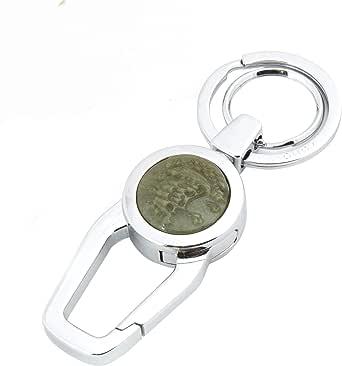 Zobo Unisix Car Key Chain - Silver - Silver, 8 Cm
