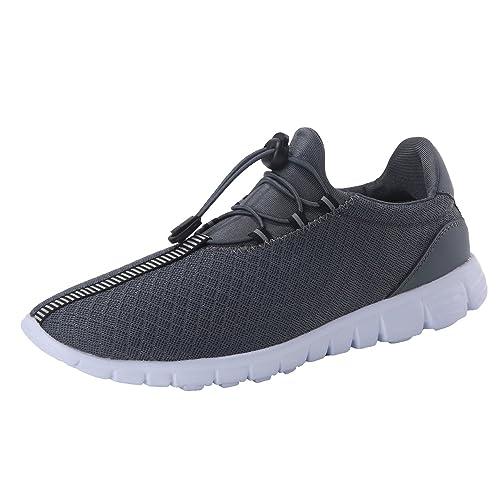 Hommes Maille Chaussures De Course Léger Respirant En Tissu Lacent Chaussures De Sport Occasionnels 8oQjSlc0j