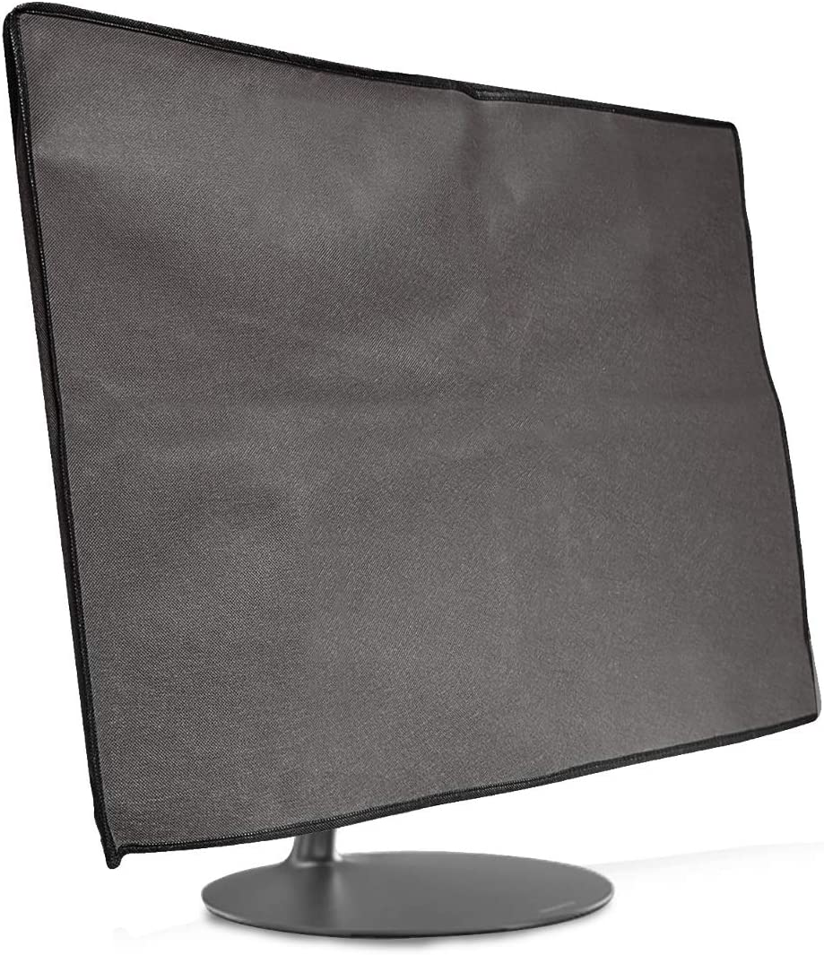 """kwmobile Monitor Cover Compatible with Lenovo IdeaCentre AIO 520 (27"""") - Anti-Dust PC Monitor Screen Display Protector - Dark Grey"""