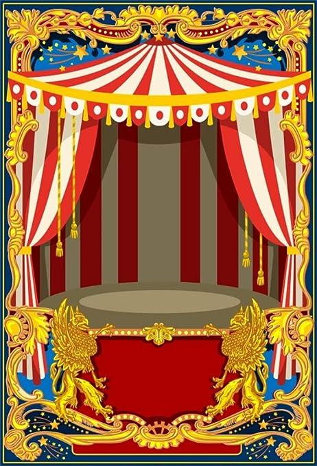 Amazoncom Leyiyi 6x9ft Luxury Circus Tent Backdrop Kids
