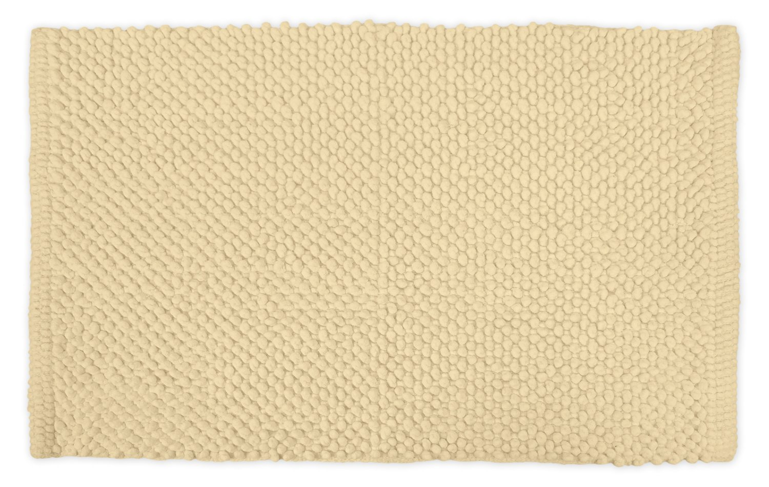 DII Ultra Soft Plush Spa Pebble Chenille Bath Mat Place in Front of Shower, Vanity, Bath Tub, Sink, and Toilet, 17 x 24 - Cream CAMZ32955