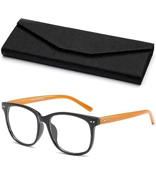 VEVESMUNDO Monturas de gafas Mujer Hombre Grandes Vintage Alta ...