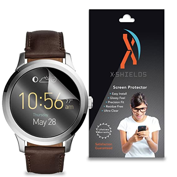 XShields© High Definition (HD+) Screen Protectors for Fossil Q Founder Smartwatch (Maximum Clarity) Super Easy Installation [5-Pack] Lifetime ...