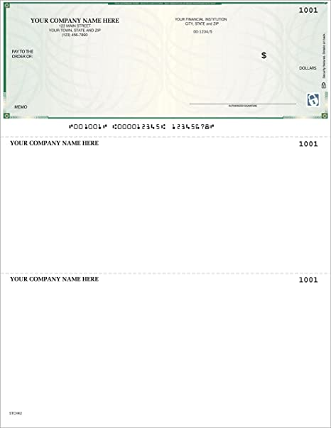 CheckSimple High Security Laser Business Checks - Custom 250 Qty Compatible with QuickBooks /& Quicken