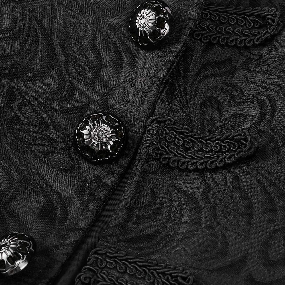 JYJM 2018 Männer Druck Mantel Frack Jacke Gothic Gehrock Uniform Kostüm  Party Oberbekleidung Lammfell Herren Strickjacke Blazer Splicing Cardigan  Kurze ... 0588834eeb