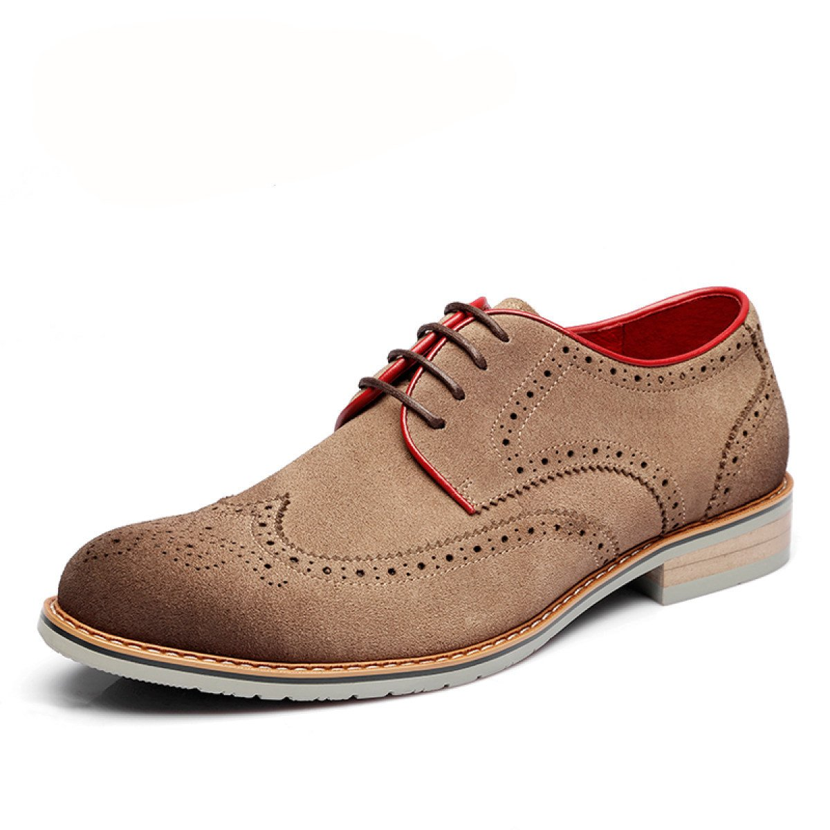 GRRONG Herren Brock Geschnitzt Tauml;gliche Beilauml;ufige Schuhe Trend-Schuhe  44|Khaki