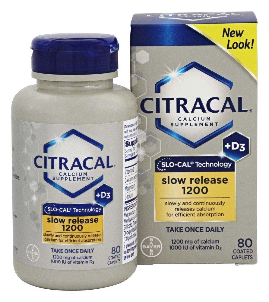 Bayer Healthcare - El calcio de Citracal + D3 retardan el magnesio 1200 del lanzamiento. - 80Cápsulas: Amazon.es: Salud y cuidado personal