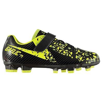 Sondico Boys Gaelic Firm Ground Football Boots Black Lime UK 2 (34 ... 6ee5d284230