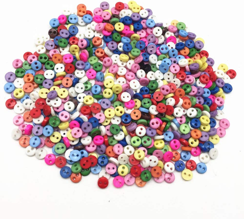 300pcs//pack Miniature Metal Tiny Garment Buttons For Doll Clothes DIY Accs