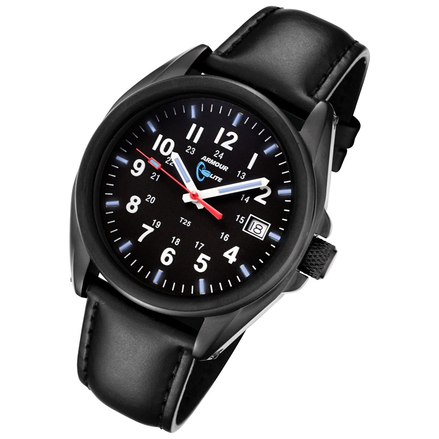 Armourlite Captain Field AL501-BBL Watch Black-Blue - Leather
