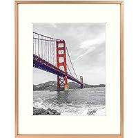 SiegenPro A4 Size Photo Frame Big Golden Photo Frame Family Photo Frame Portrait Frame Metal Photo Frame (Golden)