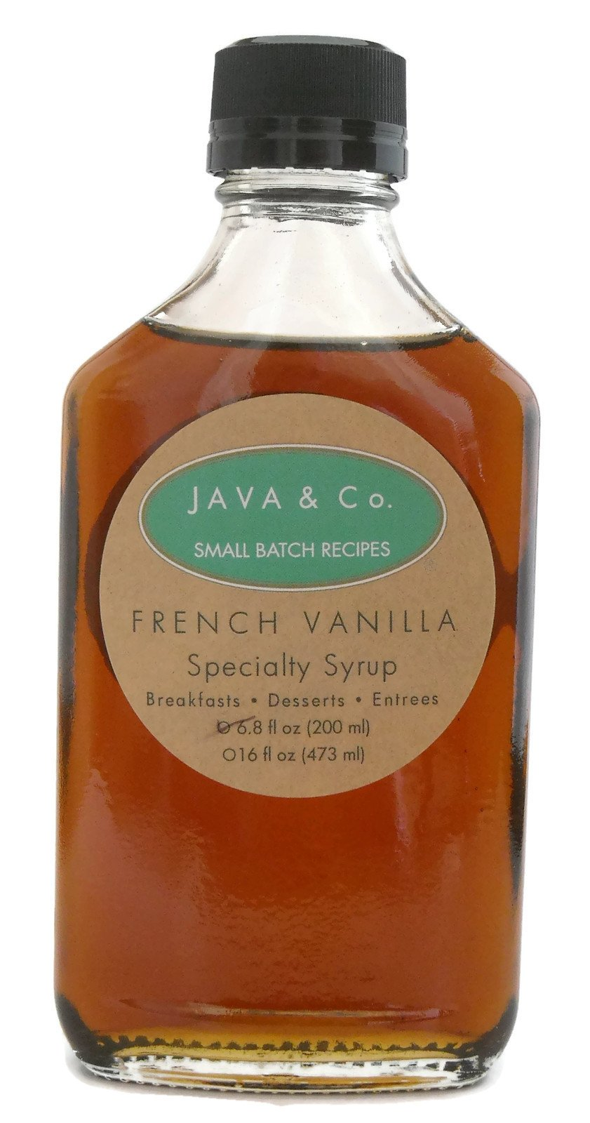 Coffee infused Syrup, French Vanilla, 6.8 oz