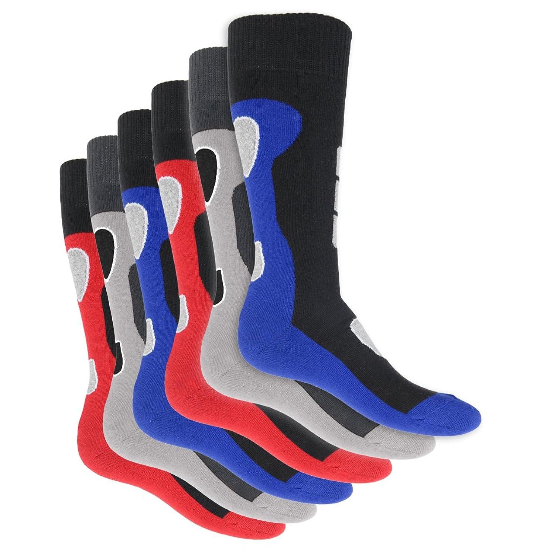 6 Paar Herren Thermo Kniestrümpfe Vollfrottee im sportlichen Design - super weich und warm - in 3 modischen Farbkombinationen