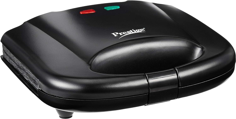 Prestige PGMFB 800 Watt Grill Sandwich Toaster with Fixed Grill Plates (Black)
