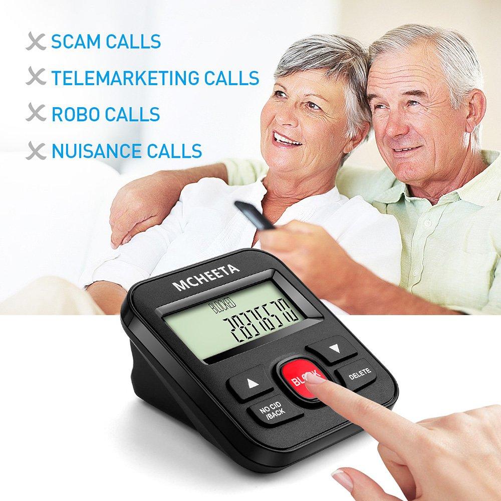 Call Blocker, MCHEETA Premium Phone Call Blocker Landline Device, Simply  Block All Unwanted Calls, Robocalls, Incoming Calls and Nuisance Calls by