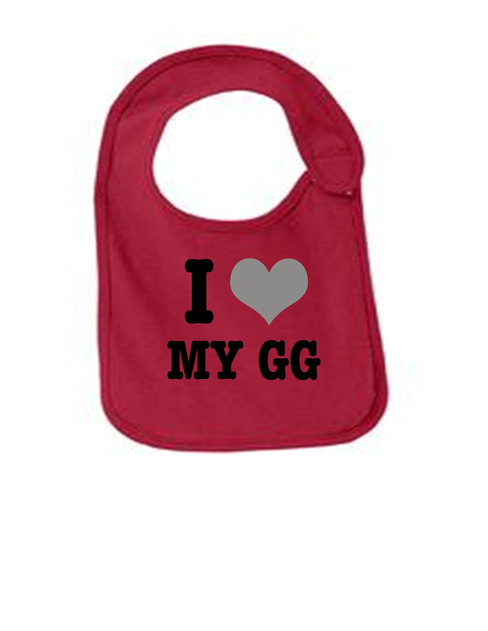 I love my GG Funny Infant Jersey Bib Red One Size
