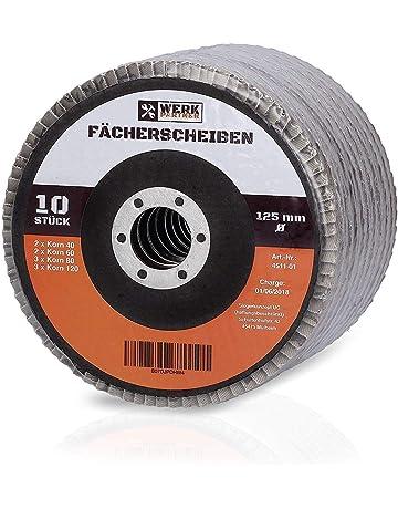 20 Fächerscheiben INOX 115 x 22,23 mm Korn 40 gekröpft Edelstahl Metall Holz