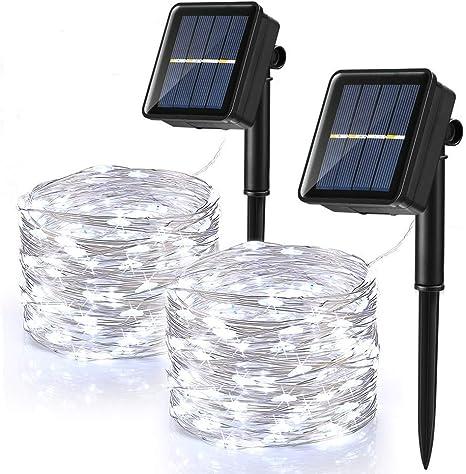LED Solare Lucine Giardino Esterno Yard Natale Festa Matrimonio