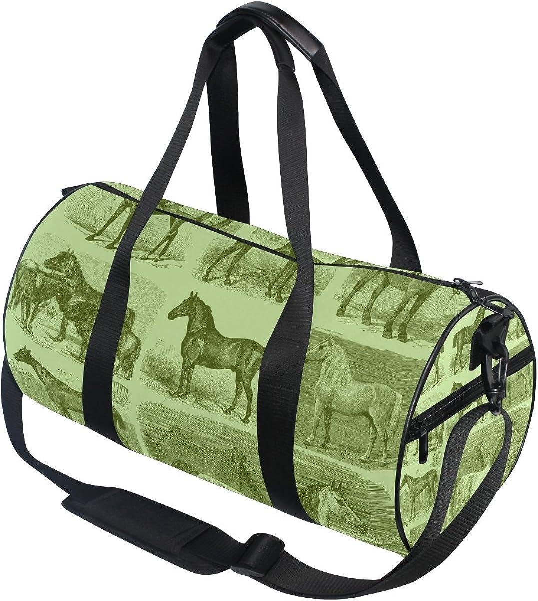 Evolutions Horses Travel Duffel Bag Sports Gym Bag For Men /& Women