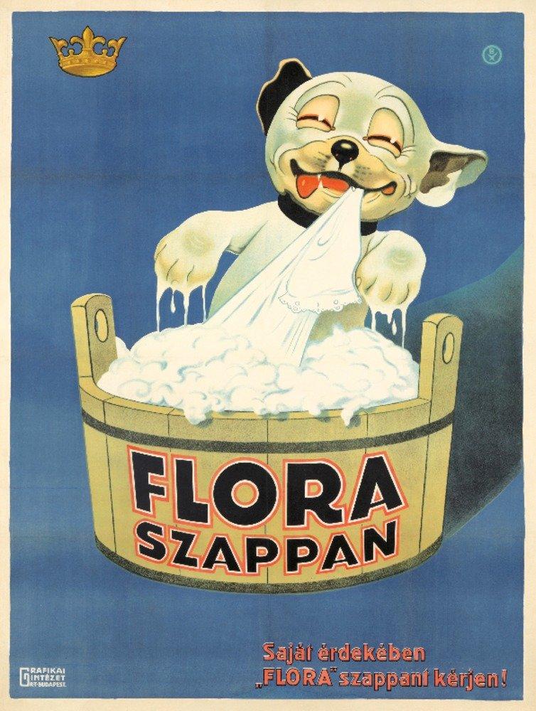 Flora Szappanヴィンテージポスター(アーティスト:匿名)ハンガリーC。1925 24 x 36 Giclee Print LANT-73869-24x36 B01DUSDMWG  24 x 36 Giclee Print