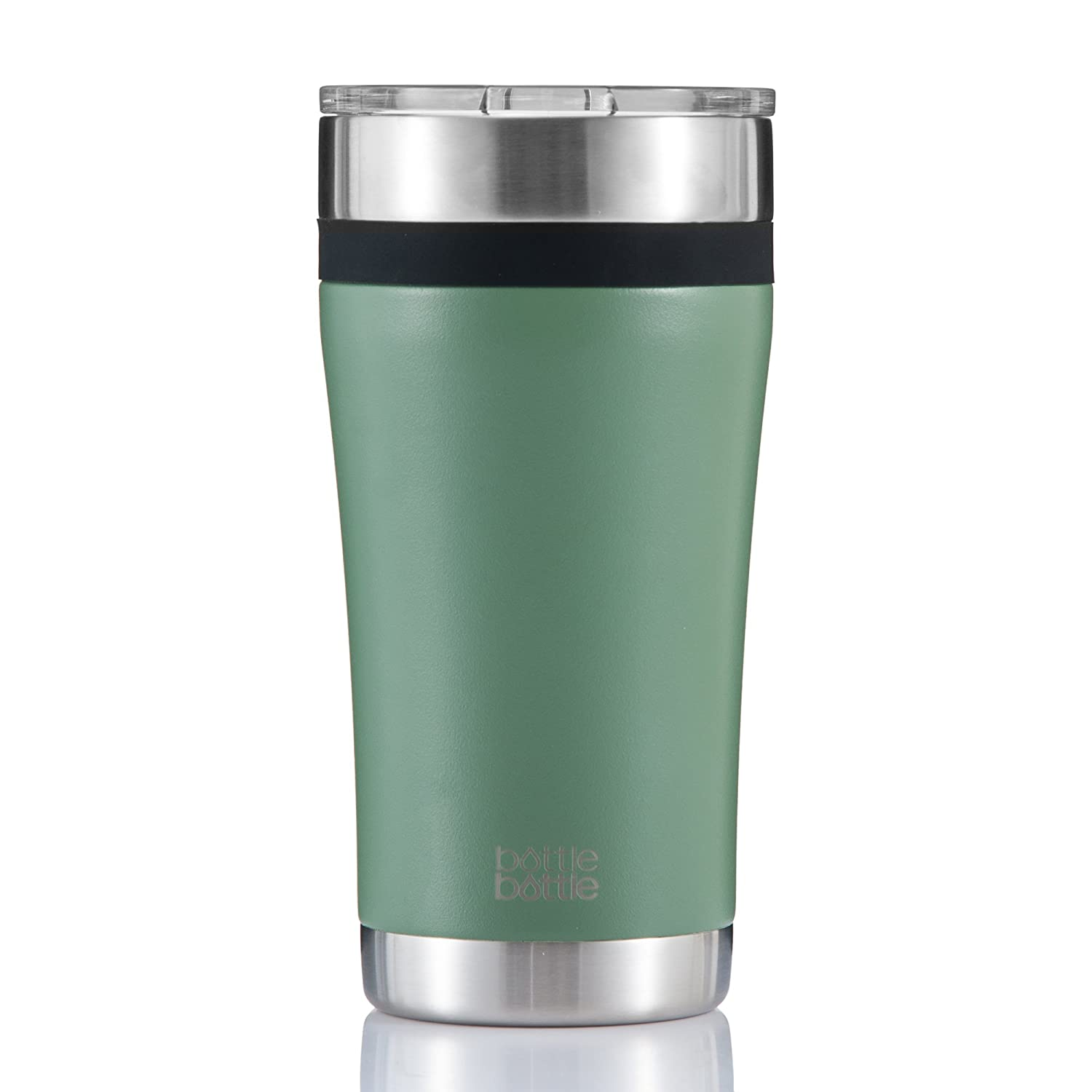 Bottlebottle 20oz Pro Stainless Steel Vacuum Insulated Tumbler, Double Walled Travel Coffee Cup, Powder Coated - Hunter Green AB007-20-2