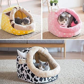 XMGJ Casas y hábitats Nido para mascotas Invierno pequeño lavable Perro doméstico Perro doméstico Perro Perro Gato doméstico Saco de dormir Gato para ...