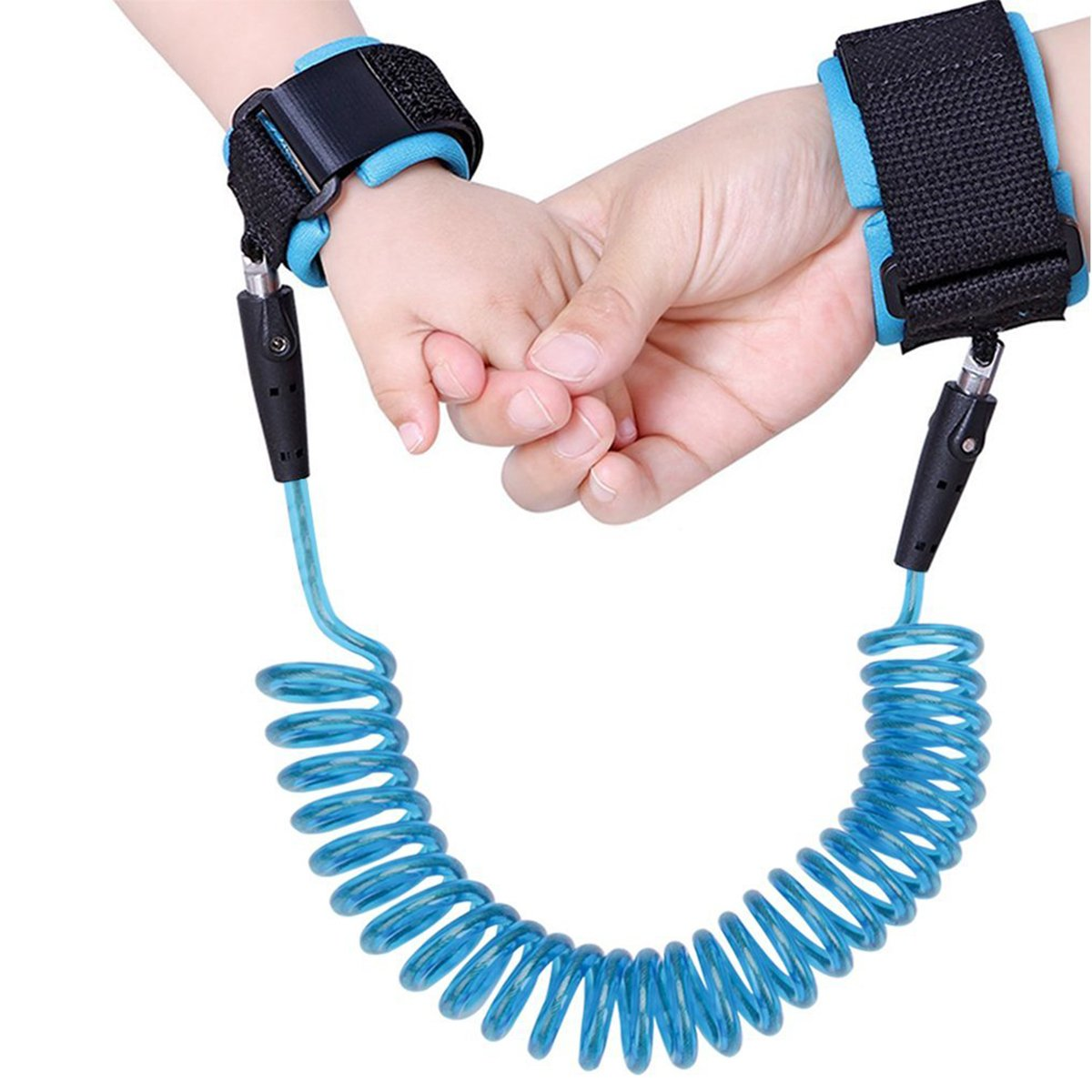 Baby Child Safety Leash Anti-Lost Wrist Link Harness Strap Rope , Safety Toddler Harness, Child Safety Tether, Child Restraint Leash , Kids Wrist Strap , Baby Travel Outdoor Safety Harness.(2.5M, bule& yellow) (bule) Yakuro