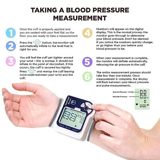 Amazon Blood Pressure Cuff Wrist Monitor Automatic Digital