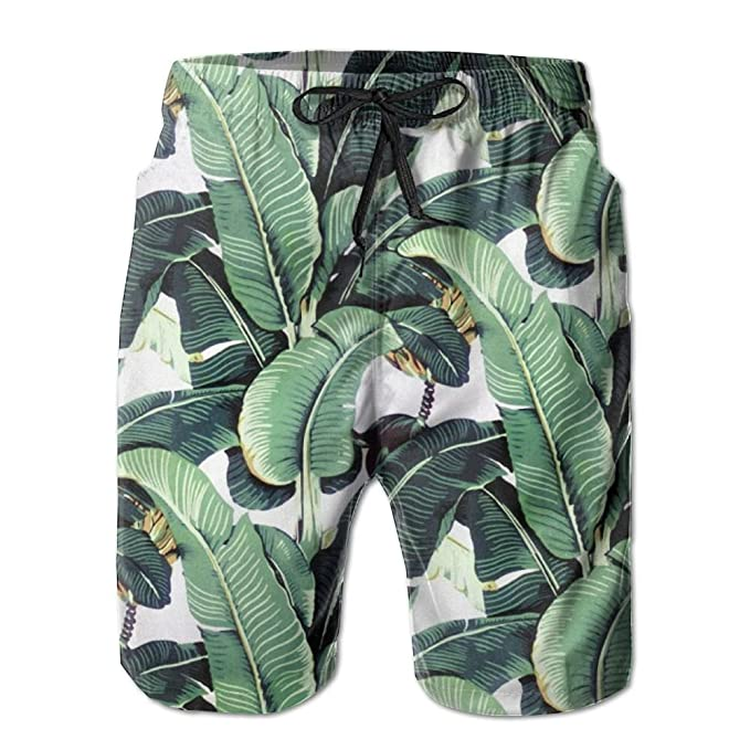 1c9076872c Men's Martinique Banana Leaf Fashion Beach Pant Tide Stamp Shorts ...