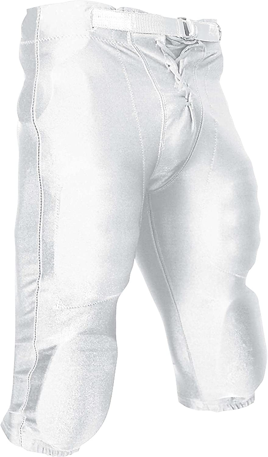 CHAMPRO Youth Stretch Dazzle Football Pant with Snaps White