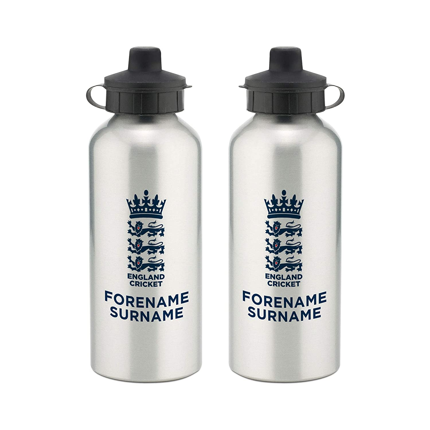 Official Personalised England Cricket Bold Crest Water Bottle