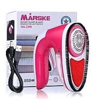 MARSKE Quitapelusas Electrico USB Recargable, Lint Remover Adecuado para Todas Las Prendas- con Cepillo
