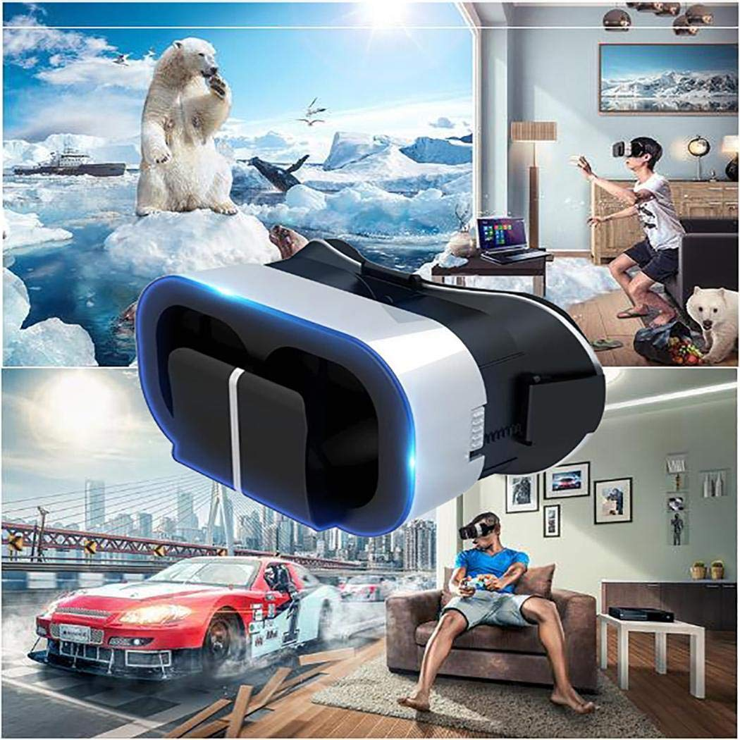 Smart Virtual Reality Glasses 3D VR Headset Helmet Goggles for iPhone Android