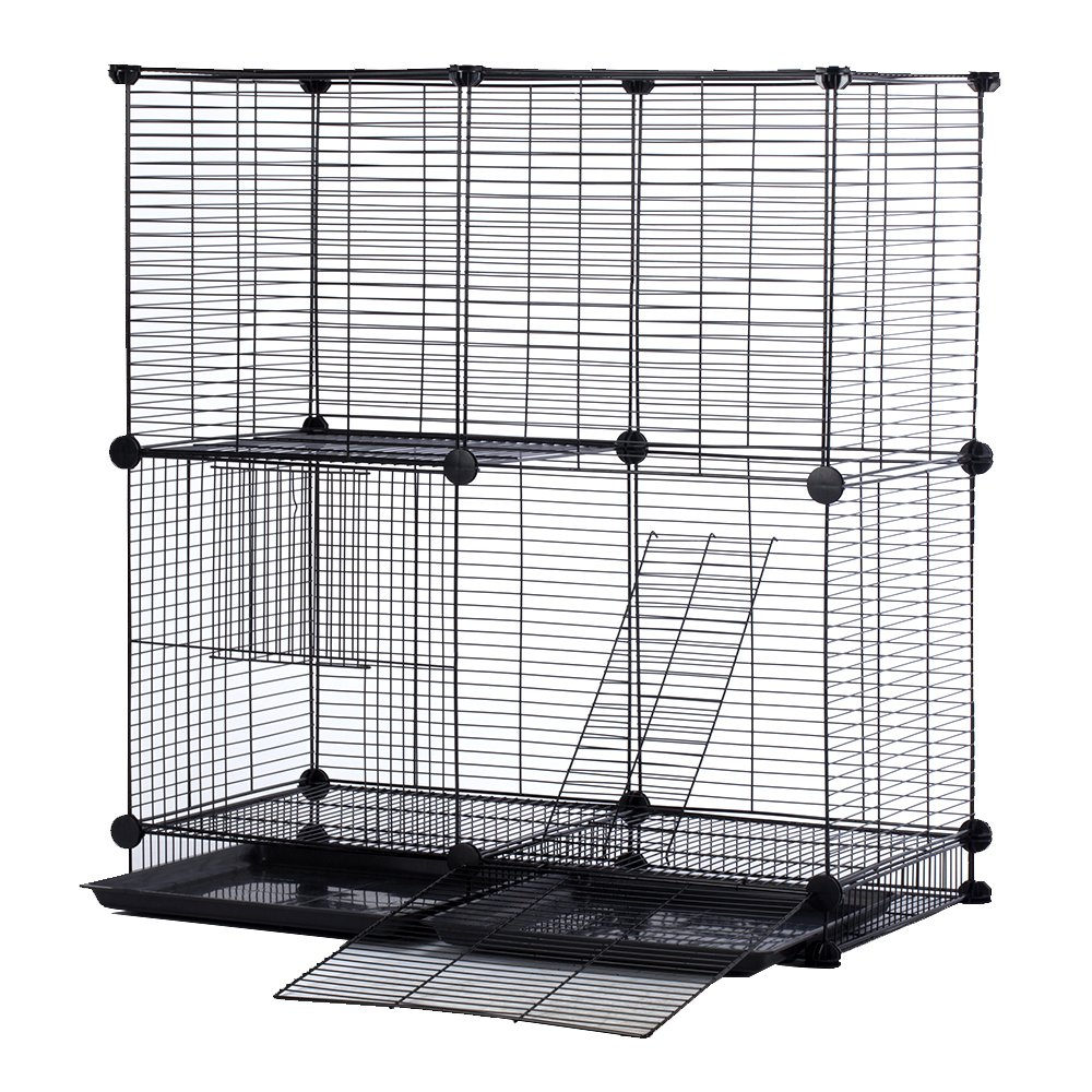Modular Add-Up Small Cat (Kitten) Small Dog (Puppy) Cage Playpen Series CW63088 (Black Basic) by CHEERWEPET (Image #2)