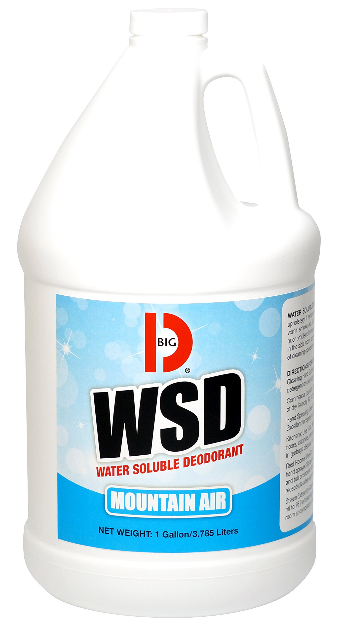 Big D 1358 Water Soluble Deodorant, Mountain Air Fragrance, 1 Gallon (Pack of 4) - Add to any cleaning solution - Ideal for use in hotels, food service, health care, schools and institutions
