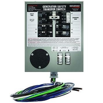 Generac 30 Amp Pre Wired 6 Circuit Manual Transfer Switch: Amazon.com: Generac 6376 30-Amp 6-10 Circuit Indoor Manual rh:amazon.com,Design