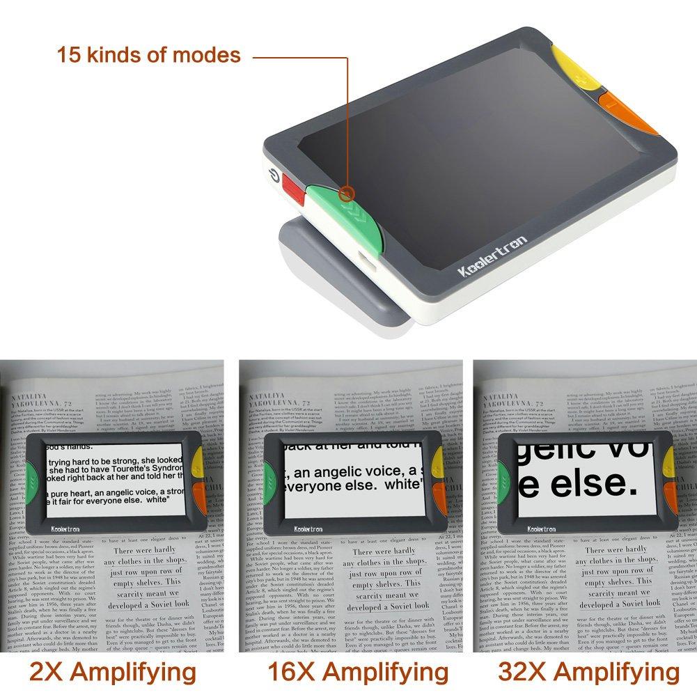 Amazon.com: 4.3 inch Digital Aid Magnifier, Koolertron Handheld ...