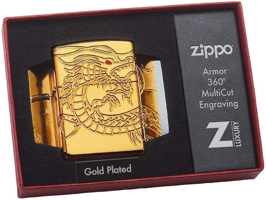 Zippo Plateado Oro del dragón: Amazon.es: Deportes y aire libre