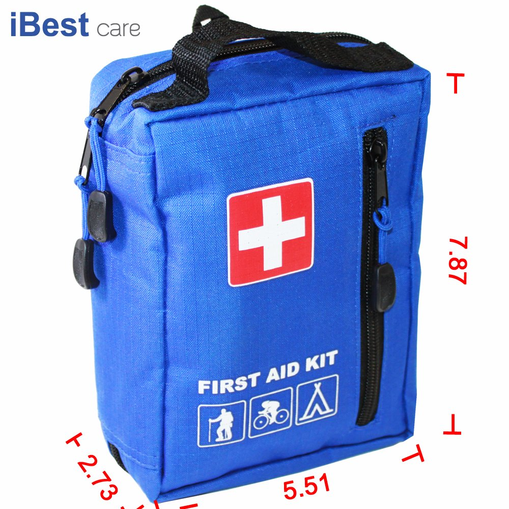 iBEST First Aid Kit, Survival Kit, Emergency Kit, Waterproof Sport Bag - Good for Sports, Mountaineers, Swimming pool, Traveling, Camping, Bike, Car, Home/Work,