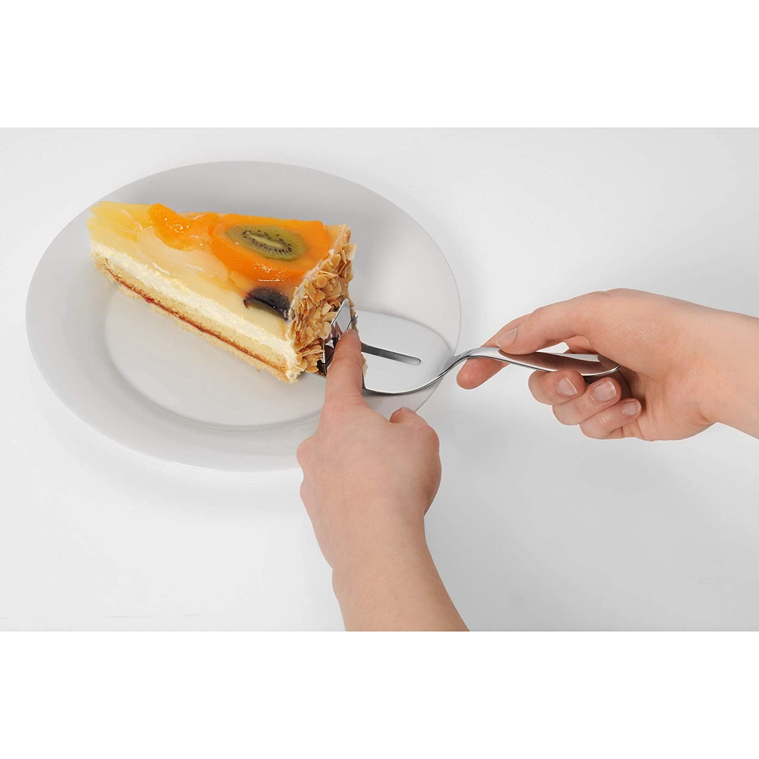 Stainless Steel silver 42 x 31.5 x 10.19 cm Silit Cake Server Midi Crominox Polished Stainless Steel