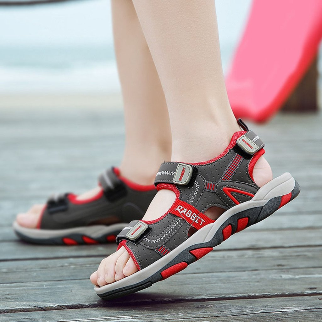 Boy's Girl's Outdoor Athletic Double Adjustable Strap Breathable Open-Toe Water Beach Sandals(Toddler/Little Kid/Big Kid)? by GIY (Image #2)