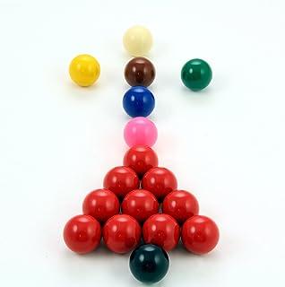 Jonny 8 ball - Lot de 17boules de billard pour enfant, dont 10rouges - 38mm dont 10rouges - 38mm .