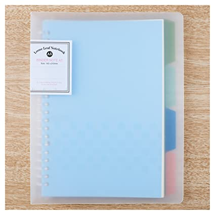 amazon com a5 binder college ruled notebooks ahgxg refillable