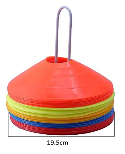 19cm 10Pack Outdoor Marker Discs Sports Saucer Soccer Football Training Cones