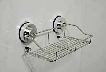 Genexice Stainless Steel Shower Caddy With Rotate U0026 Lock Suction Cups