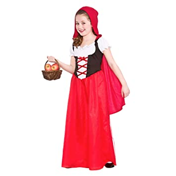 Diy Halloween Costumes For Girls Age 11 13.Wicked Costumes Girls Red Riding Hood With Attached Hooded Cape Storybook Fancy Dress World Book Day 3 4 Years