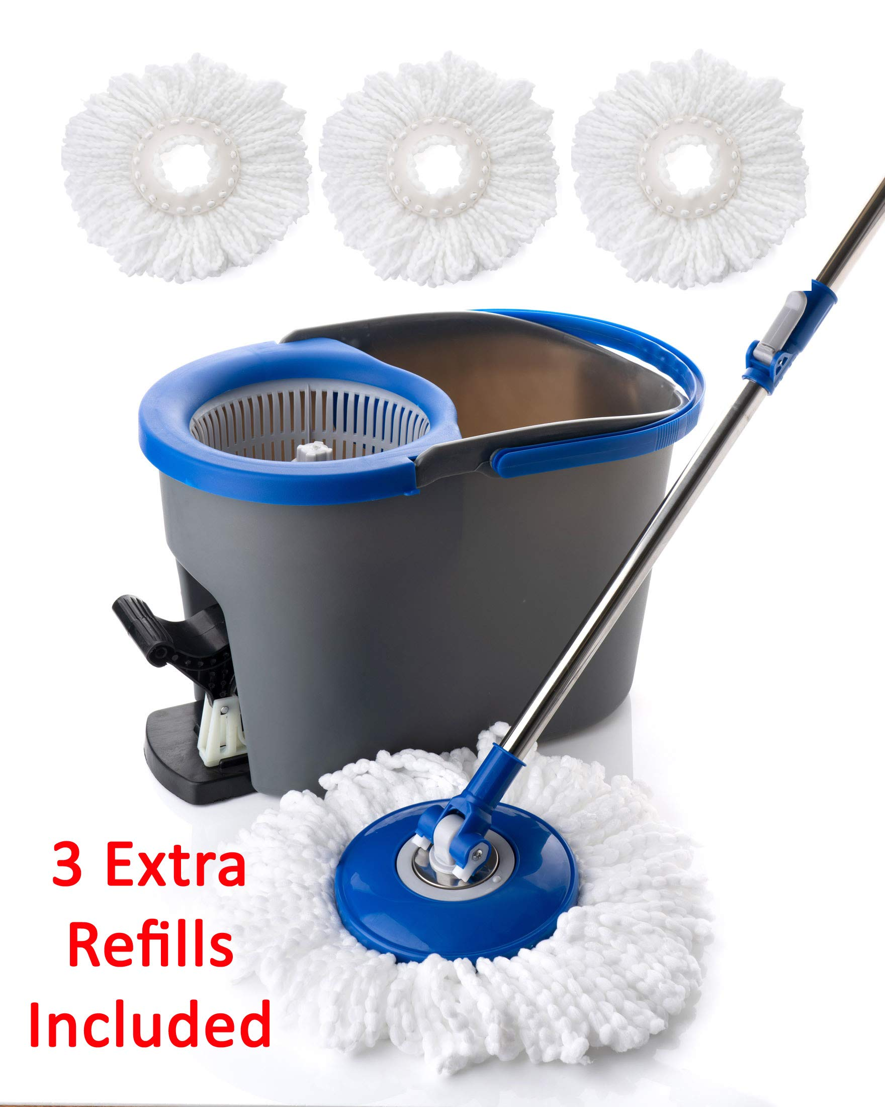 Simpli-Magic 79154 Spin Cleaning System with 3 Microfiber Mop Head Refills Included, Industrial by Simpli-Magic (Image #1)