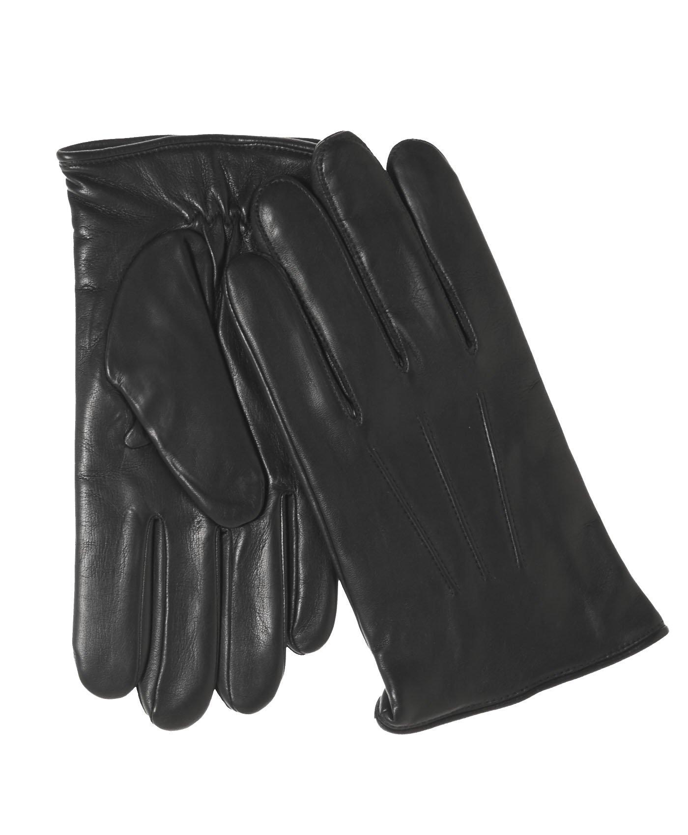 Fratelli Orsini Everyday Men's Italian Lambskin Cashmere Lined Winter Leather Gloves Size XL Color Black